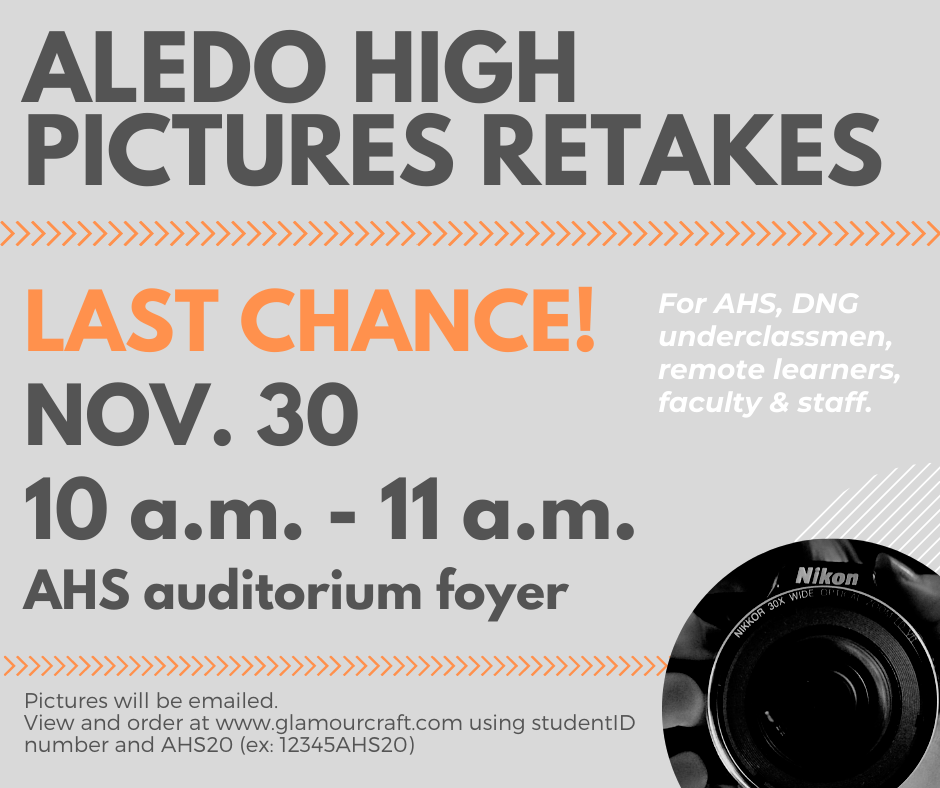 Final Retake Opportunity for face-to-face and remote students, faculty, and staff.